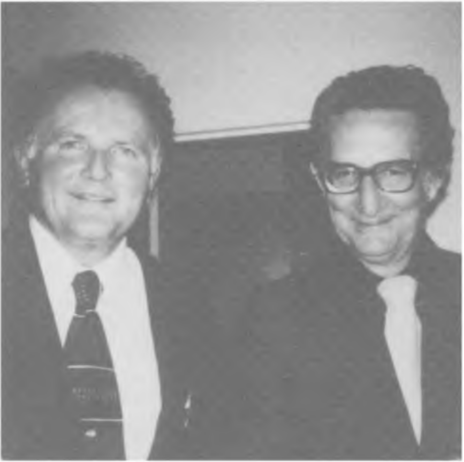 Photo taken in London in 1971 by Methuen Publishers. To the right is Eysenck.